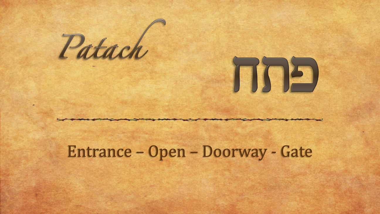 Patach Dalet – The Open Door